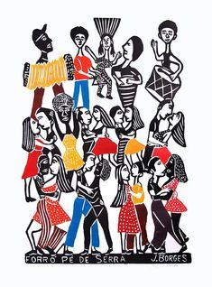Arte Visual - Xilogravura - J. Borges ~ ProfessorEdgar.com