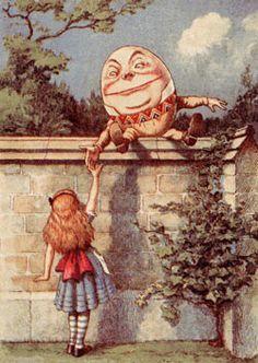 Humpty Dumpty & alice -  alice in wonderland