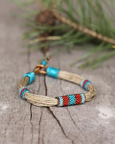 Hey, I found this really awesome Etsy listing at https://www.etsy.com/listing/183451013/colorful-ethnic-bracelet-linen-bracelet