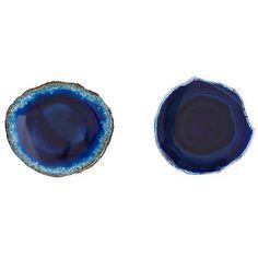 small custom blue agate slice drawer pulls knobs by landidesigns