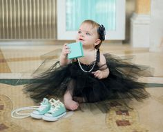Brooklynn is ONE Photo By Sweet Orange Photography Breakfast at Tiffany's first birthday.