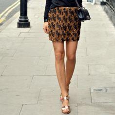 "Spotted while shopping on Poshmark: ""Zara Houndstooth Sequin Skirt""! #poshmark #fashion #shopping #style #Zara #Dresses & Skirts"