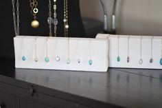 covered canvas jewerly display