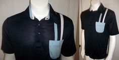 VINTAGE 60's 70s ROYALE-AIR KNIT ROCKABILLY RACING STRIPES POLO SHIRT sz XL