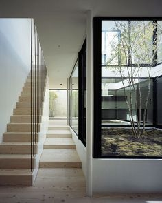 La casa-patio, un proyecto de Apollo Architects ver através do vidro pátio sala Interior Garden, Interior And Exterior, Architecture Details, Interior Architecture, Patio Grande, Casa Patio, Internal Courtyard, Interior Minimalista, Courtyard House