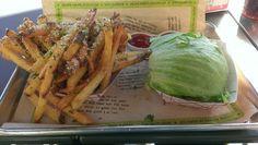 Double cheeseburger, green style. Parmasean and herb fries. Burger Fi, Atlanta, GA. 10*