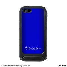 Electric Blue Personal Incipio iPhone Case Iphone 5 Cases, Iphone Se, Iphone 8 Plus, Blue Electric Guitar, Case 39
