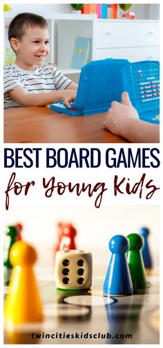 "Twin Cities Kids Club Blogs: Best Board Games for Young Kids - Your little one isn't so little anymore, and you are ready to introduce more ""grown-up"" toys. Thinking back on family fun nights, you venture to a local store on the hunt for some new fun and find yourself staring at the wall of board games for young kids. #kids #games #fungames #indoorgames #kids #kidsactivities #gameday #gameart #gamenight #checkerboard #checkers"