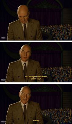 Ladies and gentlemen, Sir Patrick Stewart.