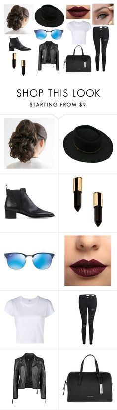 """""""Dont Look Back In Anger"""" by x1916diamondx ❤ liked on Polyvore featuring Stetson, Acne Studios, Serefina, Ray-Ban, LASplash, RE/DONE, Frame Denim, Boohoo and Calvin Klein"""