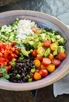 Black Bean Quinoa Salad with Lime Vinaigrette