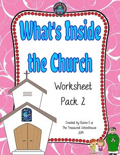 What's Inside the Church Worksheet Pack 2