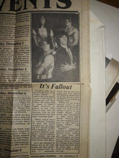 a little blurb about Fallout in New York's local newspaper. Brooklyn Theatre, Type 0 Negative, Doom Metal Bands, Peter Steele, Green Man, Choir, Religion, Hold On, Love You