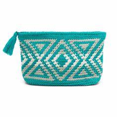 Crochet Clutch Bags, Crochet Wallet, Crochet Pouch, Crochet Purses, Bag Pattern Free, Pouch Pattern, Mochila Crochet, Tapestry Crochet Patterns, Tapestry Bag