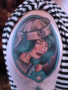 Kitty Dearest  Tattoo Artist Sailor Girl By