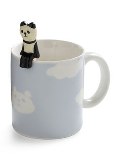Height of the Morning Mug in Panda:  The little panda sitting on the edge is actually a matching spoon!  What a playful way to start your day!