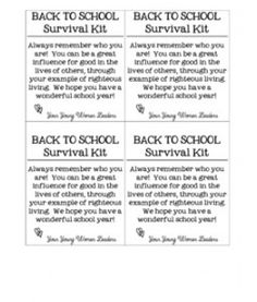 YW Back to School Survival Kit