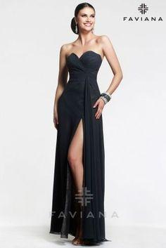 Shop Strapless Chiffon Evening Dress | Style 6428 - Prom Dresses 2016