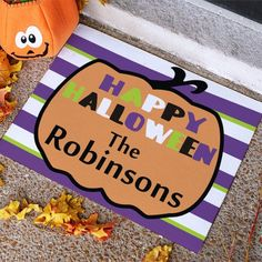Custom Printed Halloween Welcome Doormat - Just Becuzz Inc.