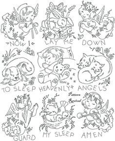 Embroidery Quilt 818 Heavenly Angels Crib Baby by PatternRevival