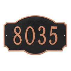 Montague Metal Products Montague Standard One Line Address Sign Plaque Finish: Black/Gold