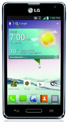 LG Optimus F3, Titanium (Sprint) Display: 4.0-inches. Camera: 5-MP. Processor Speed: 1.2 GHz. OS: Android 4.1 (Jelly Bean).  #LG #Wireless