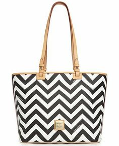Dooney & Bourke Chevron Leisure Shopper - Dooney & Bourke - Handbags & Accessories - just ordered on QVC in Navy with the accessories! Love it for spring!!!