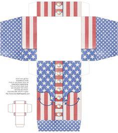 Patriotic Western Themed Printable Box