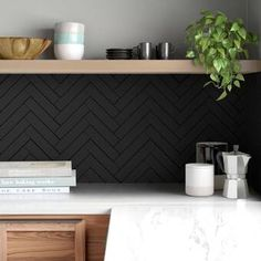 Black Subway Tiles, Ceramic Subway Tile, Black Wall Tiles, Black Walls, Black Backsplash, Herringbone Backsplash, Black Splashback, Decorative Tile Backsplash, Subway Tile Backsplash
