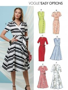 When it comes to fashion and style, Vogue Patterns is a leader in the fashion industry. The new Spring Vogue Patterns have just come . Vogue Patterns, Free Sewing, Vintage Sewing Patterns, Clothing Patterns, Sewing Tips, Sewing Projects, Sewing Hacks, Apron Patterns, Pattern Sewing