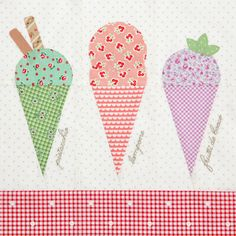 Gelato Italiano by Kristyne Czepuryk for Quiltmaker's 100 Blocks Volume 8