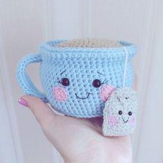 Taza de té amigurumi patrón