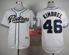 Padres #46 Craig Kimbrel White Cool Base Stitched MLB Jersey