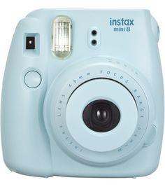Fujifilm Instax Mini 8 Blue Instant Camera, Blue FUN LITTLE CAMERA!