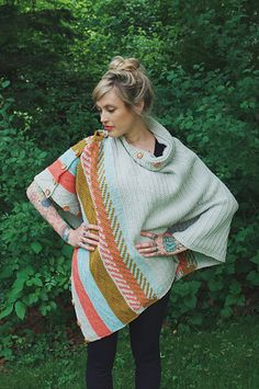 The Om Shawl can be worn in a myriad of ways to mirror all of the different facets of your personality, the changing seasons, and the different parts of your day! Drape it around your back and over your arms as a cozy stole, button up the top sides and pull it over your head as a poncho, button half of the side buttons and wrap it twice around your neck like a cowl letting the corners drape down like a triangle shawl. Lay it over your lap for some extra warmth on a cool morning as you sip…