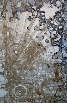Chart 9 by Louisa Boyd, via Flickr. Two plated copper etching using relief and intaglio printing methods on Somerset paper.
