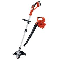 BLACK+DECKER LCC140 40-volt Max String Trimmer and Sweeper Lithium Ion Combo Kit