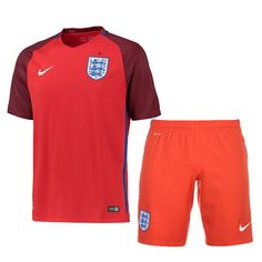 England Jersey 2016 Euro Away Soccer Uniform (Shirt+Shorts)