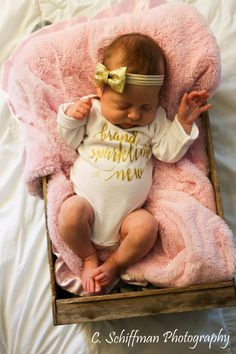 Brand Sparkling New newborn girl bodysuit...newborn girl gown...Baby shower gift...baby girl take home outfit..newborn girl hospital outfit by TheNewBabyBoutique on Etsy