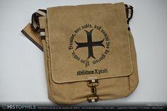 Militum Xpisti, templar bag by Histophile