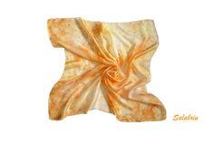 Seidenschal Seidentuch orange  http://de.dawanda.com/product/75127763-seidentuch-orange von Salabrin  auf DaWanda.com
