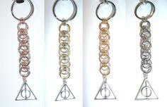 Deathly Hallows-inspired keychains - Set 1
