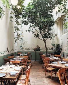wear this there: rosetta. / sfgirlbybay indoor tree and hanging plants inside rosetta restaurant in Bohemian Restaurant, Restaurant Vintage, Bar Restaurant Design, Deco Restaurant, Cottage Restaurant, Industrial Restaurant, Vintage Cafe, Architecture Restaurant, Indoor Trees