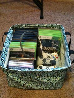 Does your husband or child LOVE video games? Keep them all organized in one spot instead of thrown all over the place. https://www.mythirtyone.com/Sharms