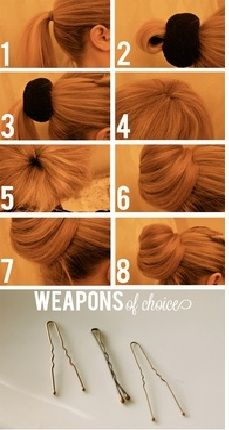 3 Easy To Do Updo Hairstyles With Instructions - Easy-Hairstyles.com