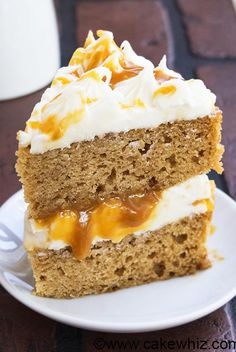 This old fashioned applesauce cake recipe with caramel sauce and cream cheese frosting is soft, moist and packed with spices! Great for Fall, Thanksgiving! Spice Cake Recipes, Apple Recipes, Cupcake Recipes, Baking Recipes, Cupcake Cakes, Dessert Recipes, Cupcakes, Shoe Cakes, Apple Desserts