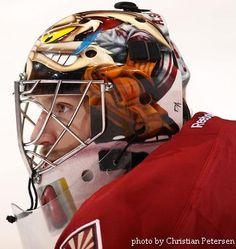Mike Smith - Phoenix Coyotes Hockey Goalie, Hockey Teams, Coyotes Hockey, Phoenix Coyotes, Mike Smith, Hockey Sticks, Arizona Coyotes, Goalie Mask, Masked Man