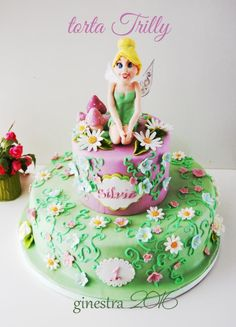 Tinkerbell cake - Cake by Ginestra - #tinkerbell #campanellino #trilly #tortatrilly www.ginestra.ifood.it