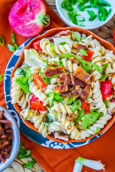 Easy BLT Pasta Salad-(This is what inspired my Aunt Gena's Macaroni salad at the BBQ! It was YUM!)