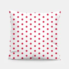Red Stars  Pillow